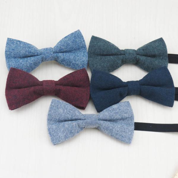 Çocuklar yün kravat Bebek Butik kravat taktı