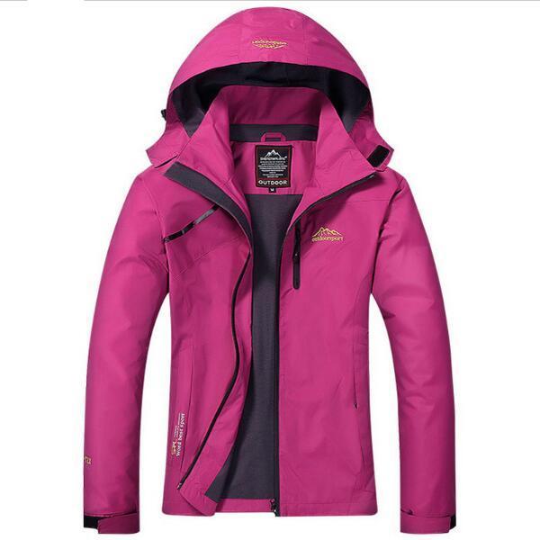 Su geçirmez kadın Temel Ceket Ceket Kadınlar 2017 Bahar Kış Sıcak Yağmur Rüzgarlık Kadın Rahat Kapşonlu Ceketler, AW022