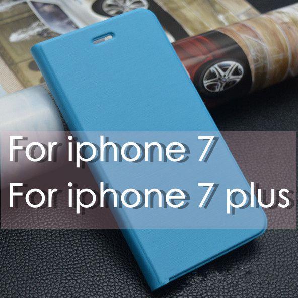 Lujo colorido cepillado Flip Wallet Case soporte de cuero cubierta ranuras para tarjetas Marco de fotos funda del teléfono para iphone 7 6 plus para Samsung S7 S6edge