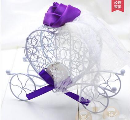 10 Colori 2017 moda cuore ferro art carrozza di cerimonia nuziale scatola creativa confezione regalo 20 pz / lotto forniture per feste evento THZ186