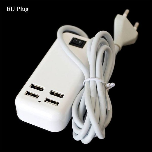 20pcs 4 Ports USB Travel Charger 5V 3A Wall Charger Desktop Charger Adapter for iphone6 7 iPad 4 5 Air Mini Mini2 Samsung LG