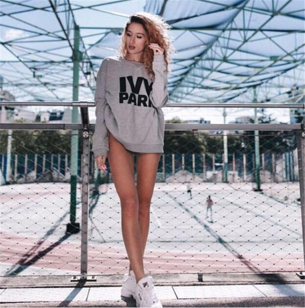 top popular New Ivy Park Sweater Soft Femme Liberte Sweater Jumper Top Ivy Park Jumper Beyonce Same Style Letter Print Hoodies Long Sleeve Sweatshirts 2020