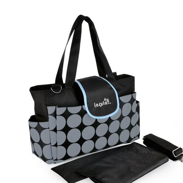 Woholesale envío libre clásico de moda bebé Daiper bolsa impermeable Mommy bolsa Nylon Nappy Bag