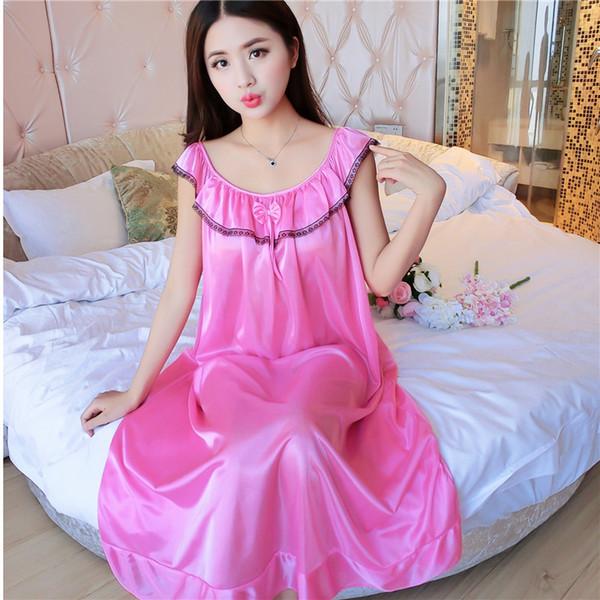 98a72cf5da silk sexy wholesale nightgowns Promo Codes - Wholesale- 2017 summer silk  nightdress sexy temptation female