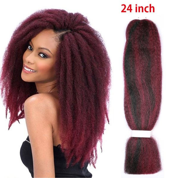 Afro Kinky Curly Synthetic Hair Extensions 24 Inch 60g Pack Futura Weaving Bundle