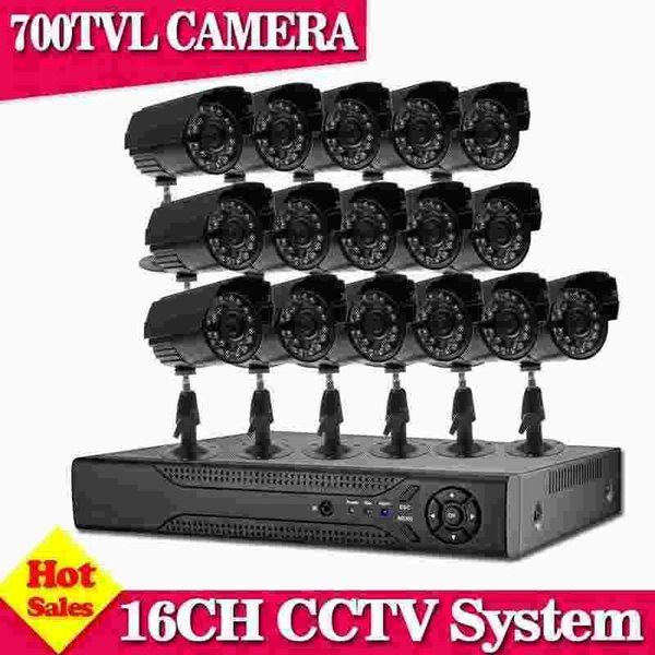 1080P HDMI 16ch DVR Kit CCTV System 700TVL Waterproof IR Indoor outdoor Cameras 16ch Security Camera system Support p2p view