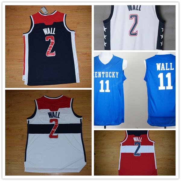 ... high 2 john wall jersey men throwback kentucky wildcats college 11 john  wall basketball jerseys vint 3be4f99d9
