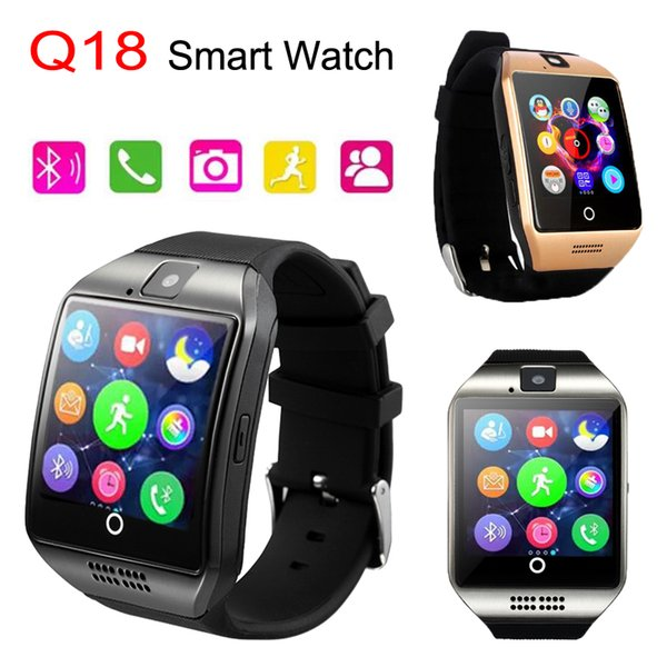 Apro Q18 Smart Watch MTK6261D Bluetooth Smart Watches For Android Phone with Camera Support TF Card Health Smartwatches with Retail Package