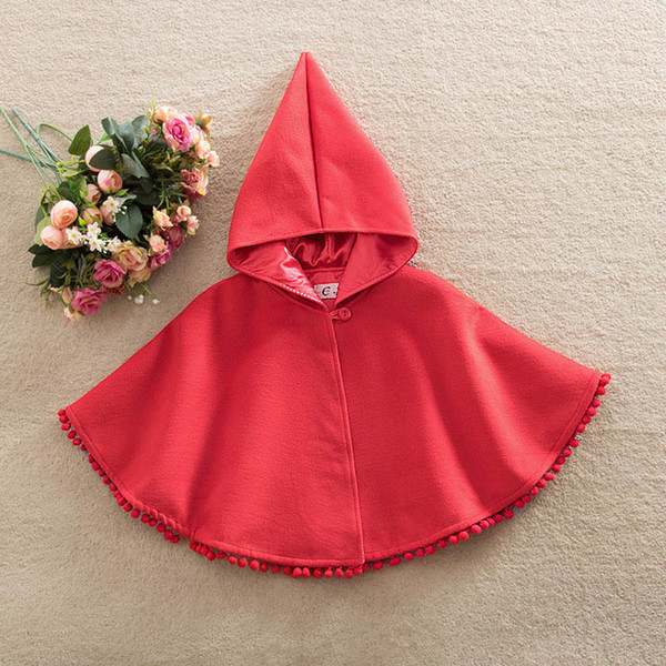 a76cd0c80 New Arrival Baby Kids Toddler Red Warm Hooded Cape Cloak Poncho Coat Hoodie  Jacket Outwear In
