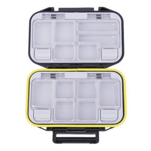 Fishing Box Accessories Waterproof Lure Bait Tackle Hooks Storage Case With 12 individual compartments Durable ABS plastic