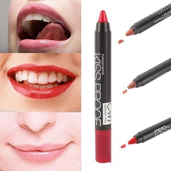 2016 Kiss Proof Lápiz labial Cosméticos Lustre Labio Impermeable Suave Brillo de labios 19 colores para dama Mujeres DHL gratuito directo de fábrica