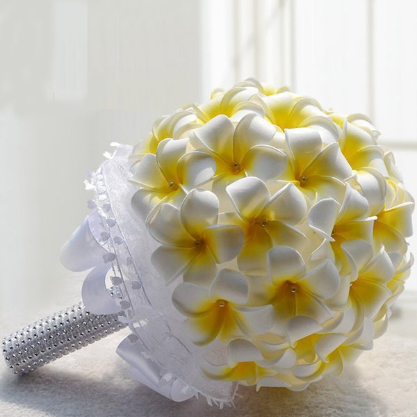 Matrimonio In Giallo E Bianco : Acquista bella giallo e bianco pu matrimonio artificiale mazzi di