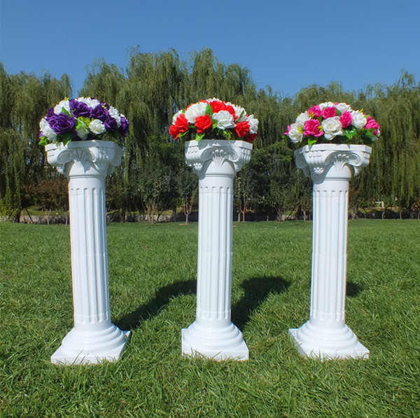 Upscale Style Roman Columns White Color Plastic Pillars Road Cited Wedding Props Event Decoration Supplies 10 pcs/lot