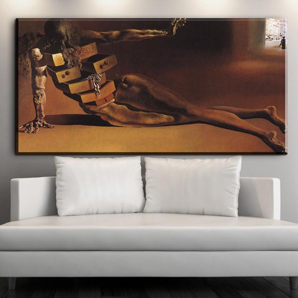 ZZ2047 Klassische Abstrakte Malerei Salvador Dali Surreal Artwork Vintage  Kunst Leinwand Wandkunst Ölgemälde Für Wohnzimmer Schlafzimmer