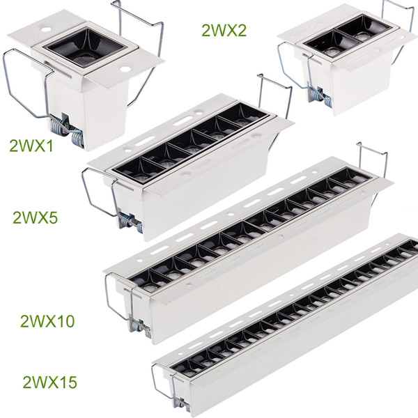 High CRI 90 Trimless Ceiling Light More than a luminaire, White Coating,Recessed LED Linear Downlight Unique Appearance Trick of light