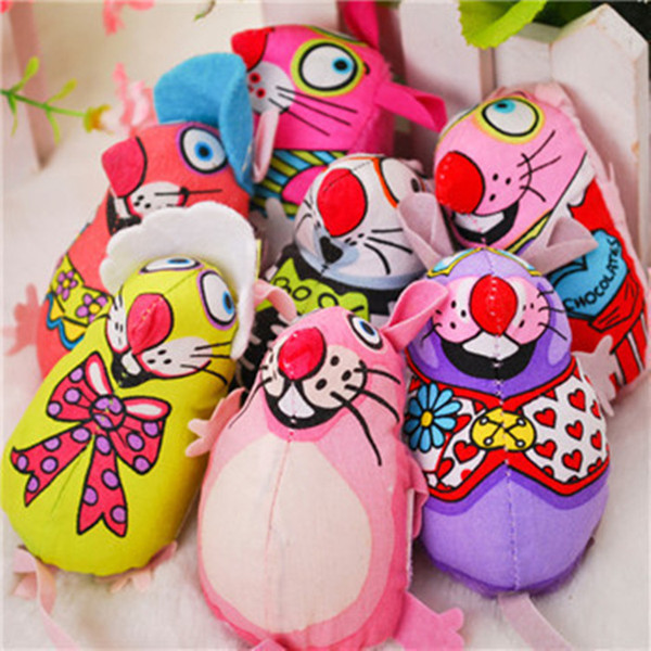 Cat toys Lovely Mouse for Cat Dogs Funny Fun playing contain catnip toys Pet supplies Mixed color 50pcs/lot IC505