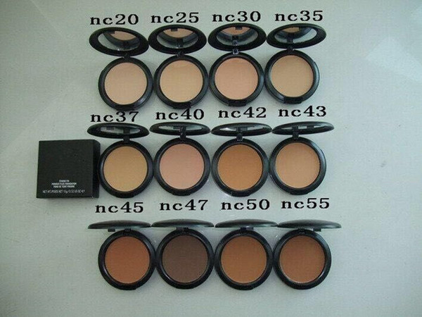 IN Store! HOT Makeup Studio Fix Face Powder Plus Foundation 15g Volume 12colors High Quality DHL free shipping