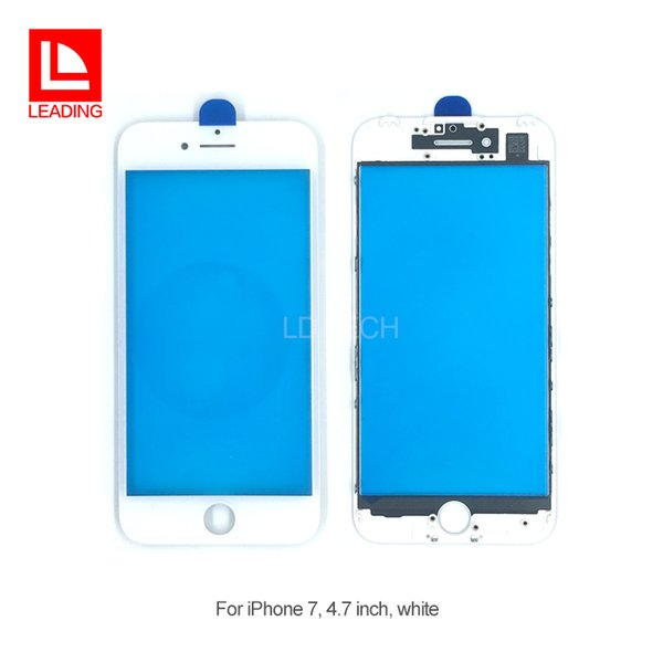 Front Touch Screen Panel Outer Glass Lens with Cold Press Middle Frame Bezel Screen for iPhone 7 iPhone 7 plus Free Shipping