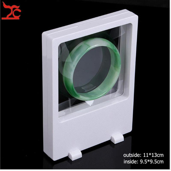 Fashion PET Membrane Suspension Window Bracelet Holder Pendant Ring Earrings Necklace Storage Stand Case Jewelry Display Box Rack