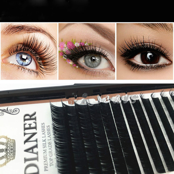 Wholesale New Mixed Size Mink Individual False Eyelashes Make up Fake Lash Semi Permanent Extensions Cosmetic