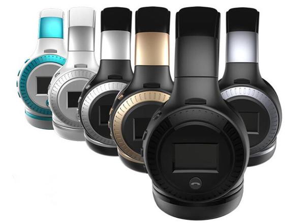ZEALOT B19 LCD Display Bluetooth Kopfhörer Wireless Stereo Kopfhörer mit Mikrofon Headsets Micro-SD-Kartensteckplatz FM Radio für Telefon PC
