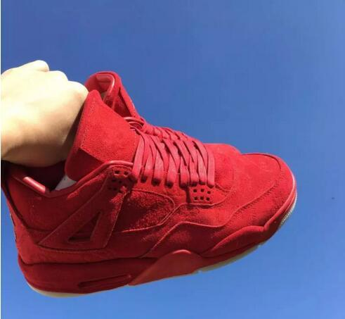 new concept 7568b 73ede 2019 New KAWS X Retro 4 Cool Red XX Suede 4s Mens Basketball Shoes Sports  Sneakers Trainers From Globaldream, $60.77 | DHgate.Com