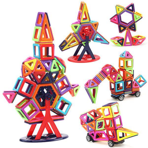 Castle Villa Magnetic Building Blocks Friends Enlighten Bricks Magnetic Toys combined into House, plane,Train,cat, fish,ball