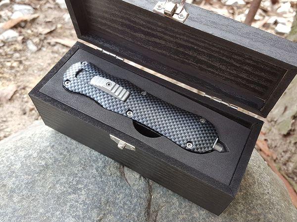BM 3300 Carbon Fiber Knife Double Edge Tactical Camping Hunting Survival Pocket Knife Best Gift Dagger EDC Tools