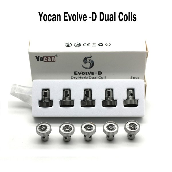 Original Yocan Evolve-D Coil Quartz Dual Coil QDC Replacement Coils For Yocan Evolve Kit NYX Dry Herb Vaporizer Pen E Cigs Vape