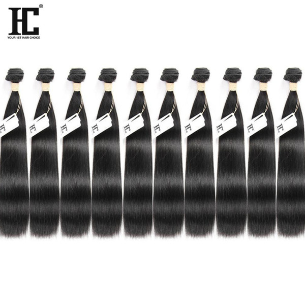 Brezilyalı Bakire Saç Uzantıları İnsan Saç Dokuma 10 Adet Çok Düz Saç Örgü Demetleri 10-28 inç Mevcut Kaliteli Hiçbir Dökülme