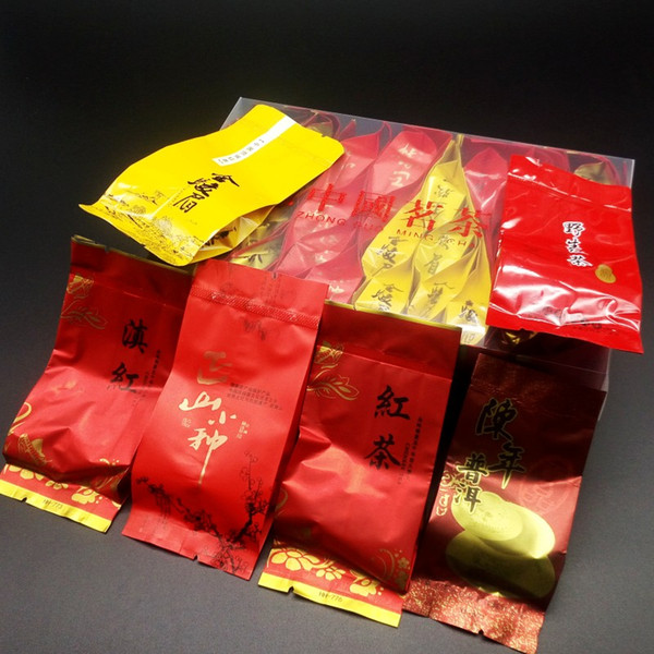 6 tipi di tè nero, tè Puer, tè cinese 36 bust, Dianhong, Jinjunmei, Lapsang Souchong, tè nero Qimen, Hongluo, Pu er, Spedizione gratuita
