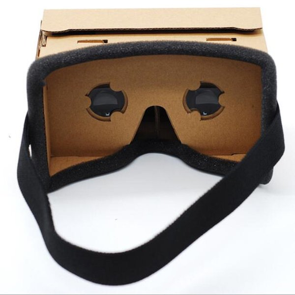 Cardboard VR Box Boxes 3D Glasses DIY Paper Boxes Phone Virtual Reality 3D Viewing Glasses for Smart phone iphone 7 6 6s plus USZ018
