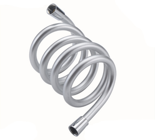 top popular Btheoom Bath 1.5m Flexible PVC Silver Water Shower Head Hose Replacement Pipe Connector Tube with rubber rings 2019