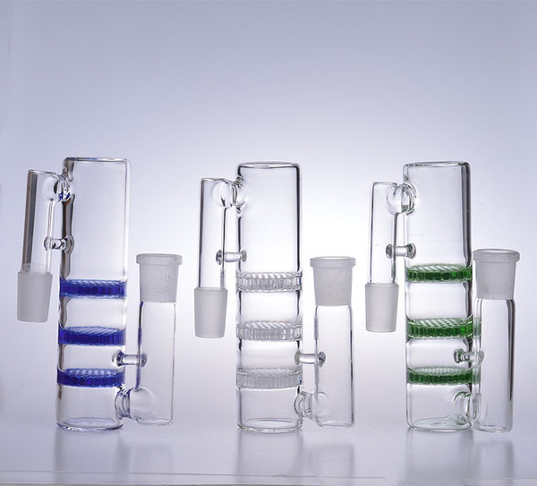 Bong ash catcher 18mm male female ashcatchers bubbler glass water pipes accessories adapter three triple honeycomb perc joint 18.8mm