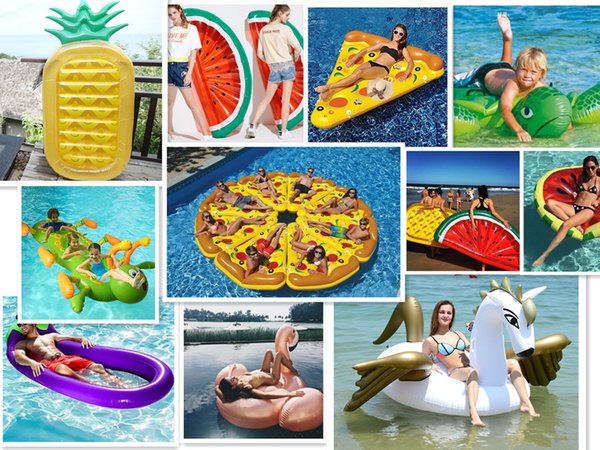 Delicieux In Stock Pool Float Giant Inflatable Flamingo Unicorn Pegasus Water Swimming  Swim Ring Pool Toy For