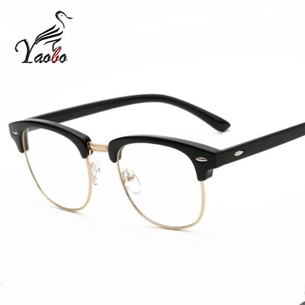 Yaobo 2017 neue modemarke frauen plain brillengestell männer frauen klar platz brillen hohe qualität vintage brille für frauen
