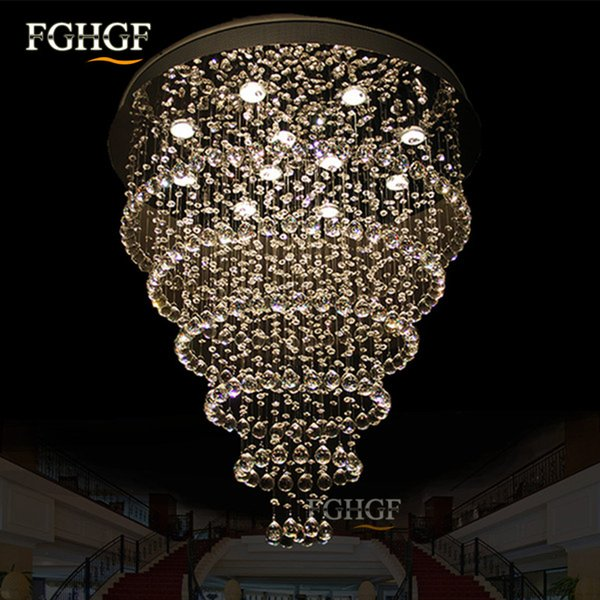 Luxurious Crystal Chandelier Light Fixture Top K9 Crystal Lamp lamparas lighting fixture for foyer dining room and Living Room