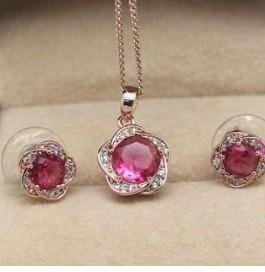 coolorful diamond beads set necklace earings (ming320) rtert
