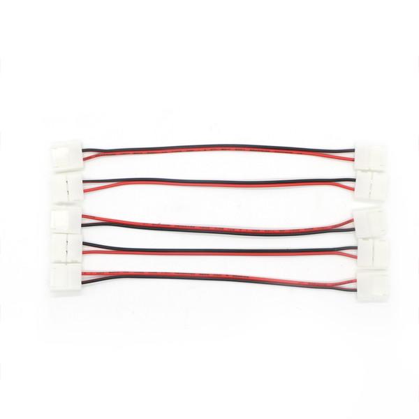 Connettore di striscia di singolo colore 5050 LED a 2 Pin da 10mm 8mm Collegamento a saldare senza fili con connettore PCB a led