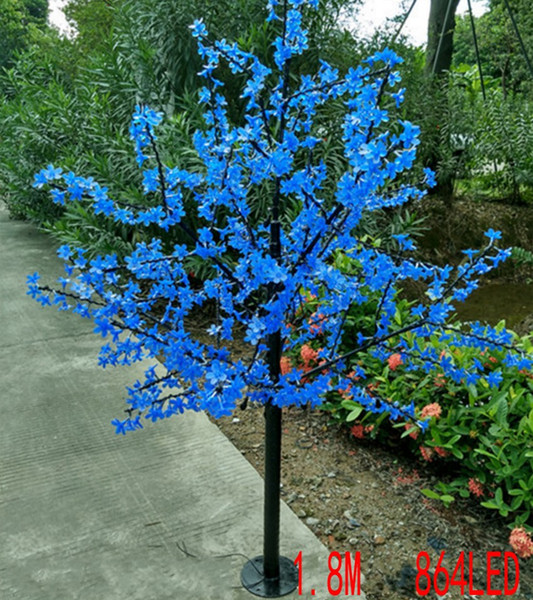 top popular LED waterproof outdoor landscape garden peach tree lamp simulation 1.8 meters 864 lights LED cherry blossom tree lights garden decoration 2021