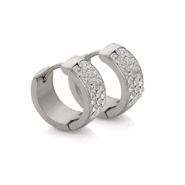 Orecchini di cristallo dell'acciaio inossidabile di modo di Wholeslae con la pietra della CZ