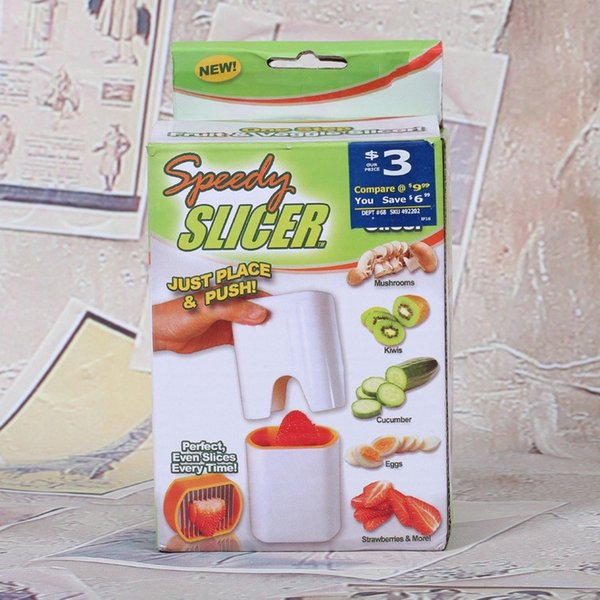 SPEEDY Slicer Hand Pressure Fruits Vegetables Eggs Slicers Just Place And Push Perfect Even Slices Everytime 8 5hk