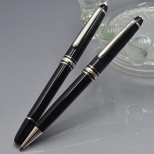wholesale Luxury Meisterstucke #163 black resin roller ball pen with star stationery school office supplies writing smooth brand MB pen gift