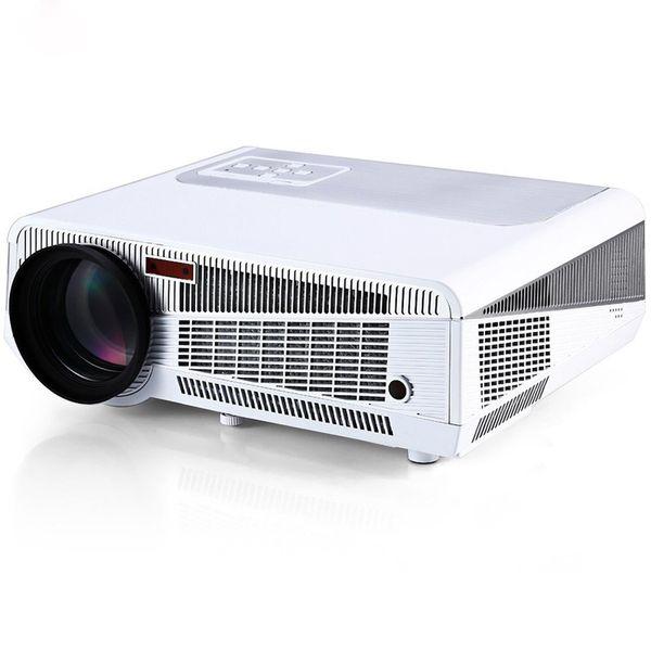 Toptan Satış - HTP LED-86 + Full HD 1080P Multimedya LED 3600 Güvenilir Lümen Projektör Beyaz WiFi Desteği TV HDMI VGA AV USB RJ45 Girişi