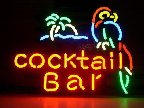 "17""x14"" Cocktail Bar Parrot Palm Tree BEER BAR PUB CLUB TAVERN NEON LIGHT SIGN"