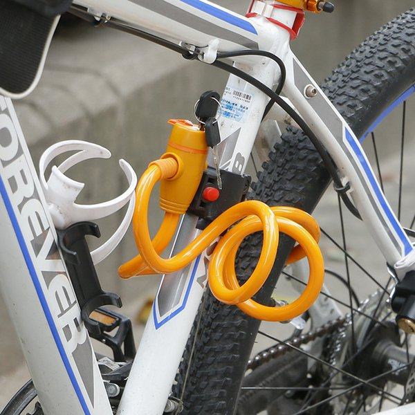 Spiral Chain Security with 2Keys Best Quality Cable Bike Lock Anti-Theft Steel