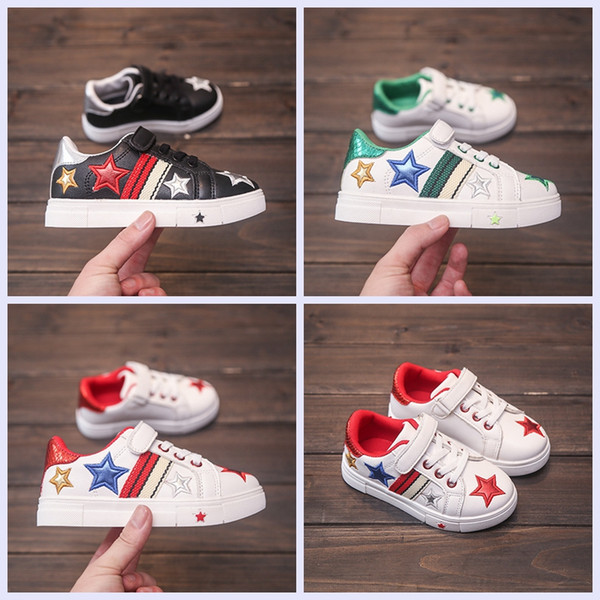 wholesale new children casual shoes star style kids PU shoes 3 colors fashion shoes for baby boys and girls cheap price with good quality