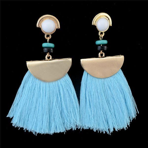 4 Colors Acrylic Bead Drop Dangle Chandelier Red Color Tassel Pendant Women Earrings Gift 2017 Brand New Design Fashion Earrings Jewelry