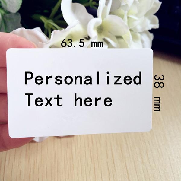 Gros-60 pcs 2.5inches * 1.5 pouces lagrge personnalisé adresse retour étiquette personnalisé invitation de mariage Merci autocollants étiquette