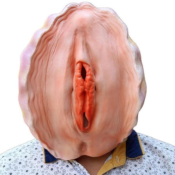 2017 Yeni Cadılar Bayramı Yaratıcı Maske Kabuk Abalone Komik Virginally Başkanı Prop Lateks Malzeme Cadılar Bayramı Arifesi Set Parti Dekorasyon Maske